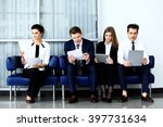 business people waiting for job ... | Shutterstock . vector #397731634