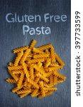gluten free fusilli pasta on... | Shutterstock . vector #397733599