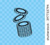 casino game icon design  | Shutterstock .eps vector #397733794