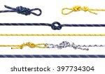 group of climbing ropes and... | Shutterstock . vector #397734304