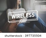 wireless internet mobile... | Shutterstock . vector #397735504