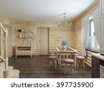 dining table and chairs by the... | Shutterstock . vector #397735900