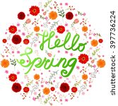 Beauty Spring Text With...
