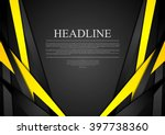 black and yellow corporate tech ... | Shutterstock .eps vector #397738360
