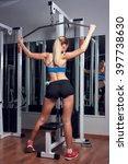 young blonde woman training in... | Shutterstock . vector #397738630