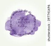 watercolor wreath with lavender.... | Shutterstock .eps vector #397741696