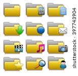 set of icon folders for archive | Shutterstock .eps vector #397743904