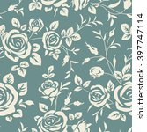 seamless pattern with roses.... | Shutterstock .eps vector #397747114