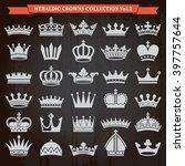 set of crown heraldic... | Shutterstock .eps vector #397757644