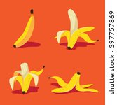 banana icon collection. eps 10... | Shutterstock .eps vector #397757869