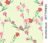 watercolor floral seamless... | Shutterstock . vector #397759843
