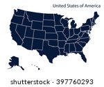 map of u.s.a | Shutterstock .eps vector #397760293