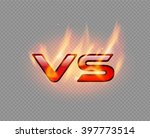 versus red burning glossy logo. ... | Shutterstock .eps vector #397773514