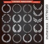 set of laurel heraldic award... | Shutterstock .eps vector #397780183