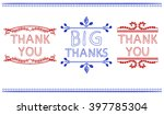 thank you card templates. big... | Shutterstock .eps vector #397785304