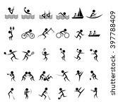 set of official summer games ... | Shutterstock .eps vector #397788409