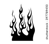 flame tattoo tribal vector... | Shutterstock .eps vector #397789450