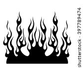 Flame Fire Vector Tribal. Blac...