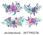 watercolor floral and nature... | Shutterstock . vector #397790278
