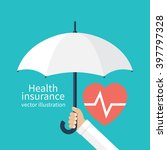 health insurance concept.... | Shutterstock .eps vector #397797328