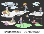 the resting people. the rest... | Shutterstock .eps vector #397804030