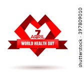 vector heart logo with ribbon... | Shutterstock .eps vector #397809010