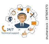 customer service  technical... | Shutterstock .eps vector #397809370