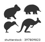 vector set of silhouettes... | Shutterstock .eps vector #397809823