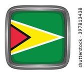 3d button flag of guyana.... | Shutterstock .eps vector #397813438