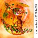 Teddy Bear On The Moon Made Of...
