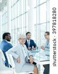 senior businesswoman in office | Shutterstock . vector #397818280