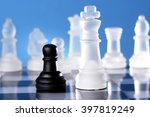 chess king is checkmated by pawn | Shutterstock . vector #397819249