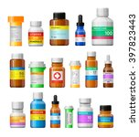 Set Of Medicine Bottles With...