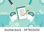 business benchmarking measure... | Shutterstock .eps vector #397832650