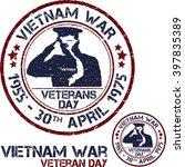 vietnam war. remembrance day.... | Shutterstock .eps vector #397835389