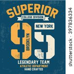 college vector label and print... | Shutterstock .eps vector #397836334