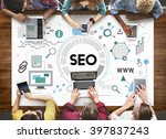 searching engine optimizing seo ... | Shutterstock . vector #397837243
