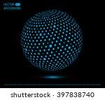 futuristic sphere.vector globe... | Shutterstock .eps vector #397838740