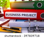 red ring binder with... | Shutterstock . vector #397839718