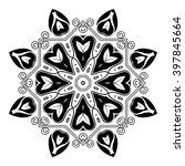 complex vector floral ornament  | Shutterstock .eps vector #397845664