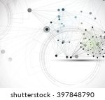 abstract tech background.... | Shutterstock .eps vector #397848790