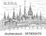 vector black and white hand... | Shutterstock .eps vector #397850470