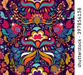 colorful seamless floral pattern | Shutterstock .eps vector #397856158
