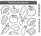 find two same pictures ... | Shutterstock .eps vector #397858009