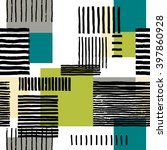 striped geometric seamless... | Shutterstock .eps vector #397860928
