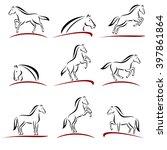 horse set. vector | Shutterstock .eps vector #397861864