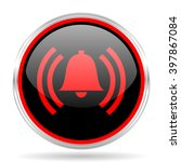 alarm black and red metallic... | Shutterstock . vector #397867084