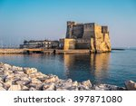 castel dell'ovo at sunset in... | Shutterstock . vector #397871080
