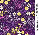 tiny ditsy floral print  ... | Shutterstock .eps vector #397872520