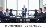 successful team leader and...   Shutterstock . vector #397875130